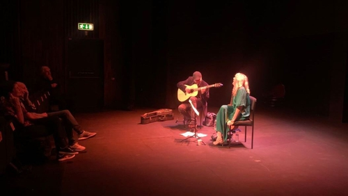 Muireann Nic Amhlaoibh and Gerry O'Beirne performing live at the National Opera House in Wexford