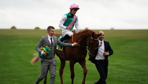 Quadrilateral after winning the Fillies' Mile at Newmarket
