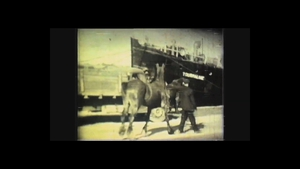 Filmed on a Super 8 camera, the footage shows the workings of the port at the time
