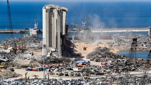 The grain silos at Beirut port were destroyed in the massive blast earlier this month