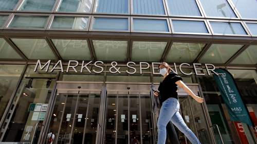 Marks & Spencer said it was seeing a 'material shift in trade