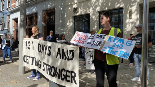 Protesters are calling on the joint provisional liquidators to help resolve demands for a redundancy package