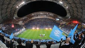 The Stade Velodrome in Marseille