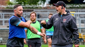 Mathewson (l) with Dan McFarland at Ulster training