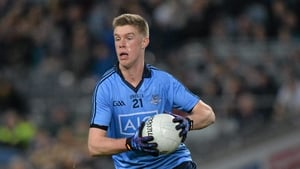 Shane Carthy in action for Dublin in 2014