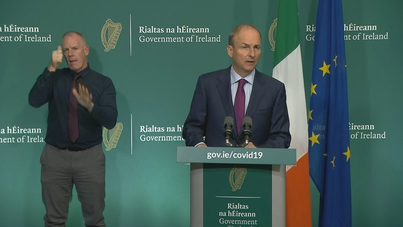 Micheál         Martin announced the new restrictions at a post-Cabinet press         briefing