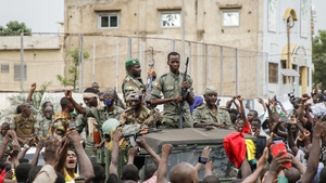 Malian Armed Forces at Independence Square in Bamako, Mali