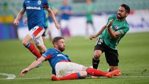 Linfield were eliminated despite a strong effort against Legia Warsaw