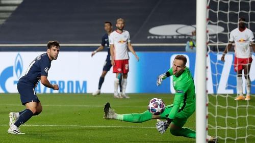 Juan Bernat scores his team's third goal