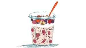 """""""You prepare it the night before, in jars so you can eat it on the go the next day."""""""