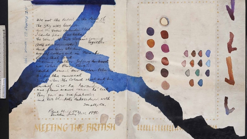 Meeting the British by Paul Muldoon with artwork by Mary Farl Powers. Photo: Great Book Of Ireland/UCC