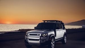 The latest Land Rover Defender long wheelbase 110 version.