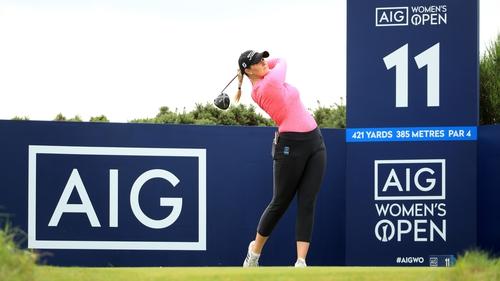 Olivia Mehaffey enjoying a practice round at the famous Scottish links