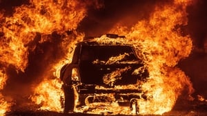 A car burns while parked at a residence in Vacaville, California