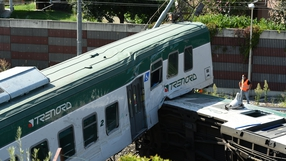 Local media reports said the driver and conductor had stepped off the train for a break