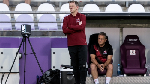 Vinny Perth watched his side concede three times in Budapest