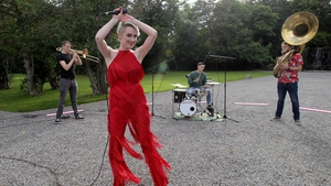 Niamh Farrell performs with Booka Brass at Shine - coming to RTE One on Saturday 29th August