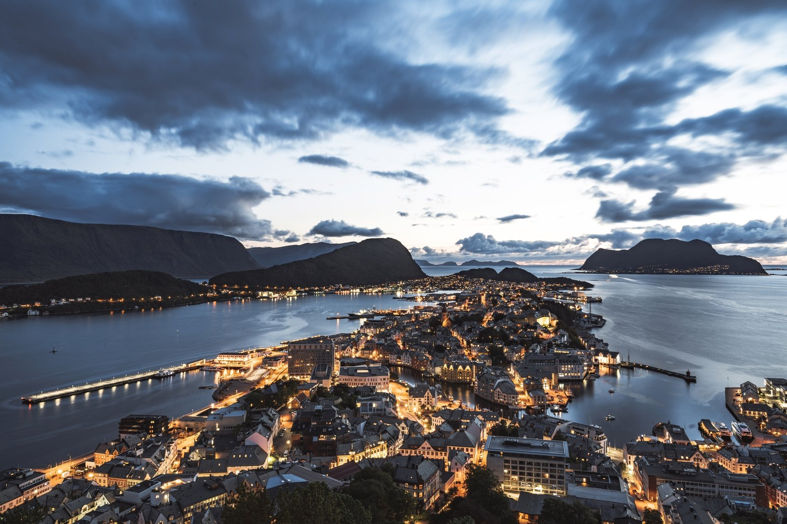 Image - View of Alesund from Fjellstua