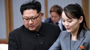 Kim Jong-un and his sister Kim Yo-Jong attending an Inter-Korean Summit in 2018