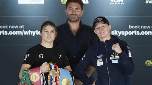 Delfine Persoon and Katie Taylor do it again on Saturday (Mark Robinson/Matchroom Boxing)