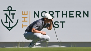 Rory McIlroy in action in Boston