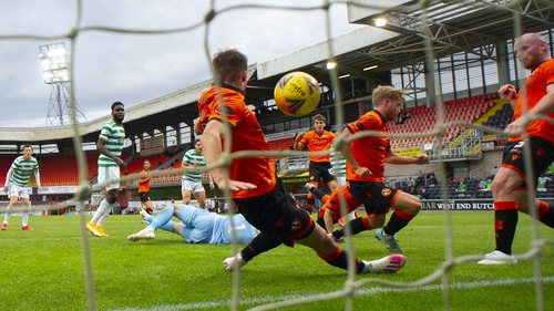 Celtic left it late to score the only goal of the game at Tannadice