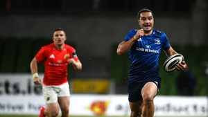 Lowe scores Leinster's third try on the night