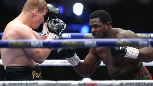 Dillian Whyte's hopes of a world title fight with Tyson Fury were shattered. Credit: Mark Robinson/Matchroom Boxing