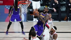 LeBron James soars clear of his Portland rivals