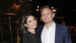 Lea Michele and her husband Zandy Reich