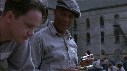Tom Robbins and Morgan Freeman in The Shawshank Redemption