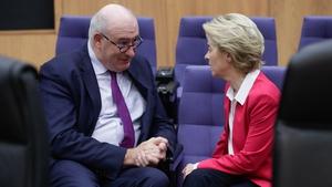 Ursula von der Leyen has sought further details from Phil Hogan (file pic)