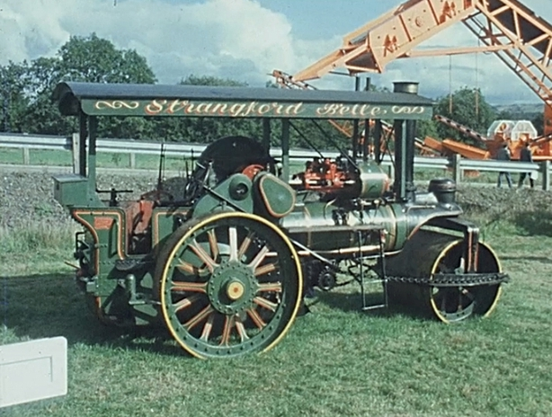 Vintage Steamroller from 1844 on display at an exhibition in Dundrod outside Belfast (1975)