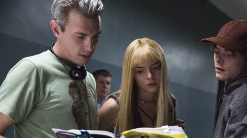 Josh Boone (L) on the set of the New Mutants with stars Anya Taylor-Joy and Charlie Heaton