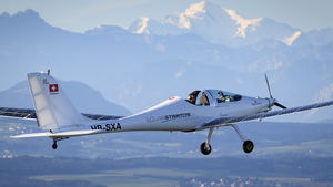 It soared to a height of 1,520 metres (5,000ft) over western Switzerland