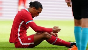 Virgil van Dijk suffered a cut above his eye