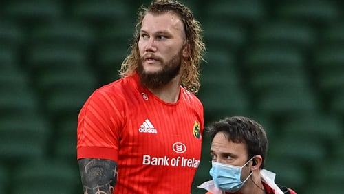RG Snyman won't play for Munster in the short term