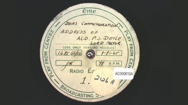 Thomas Davis Commemoration (1945) Acetate Disc Collection