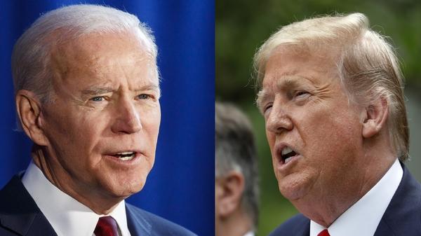 US presidential rivals Joe Biden and Donald Trump