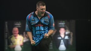 Daryl Gurney recorded a 7-5 win over Nathan Aspinall