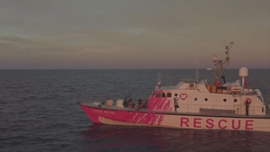 The vessel saved 89 people from a rubber boat on Tuesday in the Mediterranean