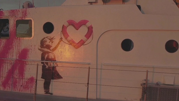 Banksy's Refugee Rescue Vessel Stranded, Issues Distress Signal