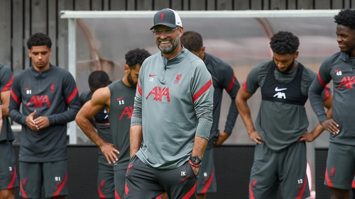 Jurgen Klopp is happy with his current group