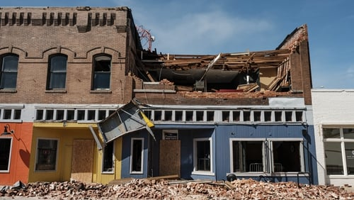 A destroyed building in Lake Charles, Louisiana