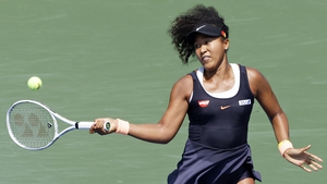 Naomi Osaka in action during the semi-finals