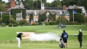 Martin Kaymer plays his second to the 18th at the Belfry