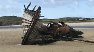 The iconic boat became stranded on the beach in Gaoth Dobhair in 1977 after it came ashore for minor repairs