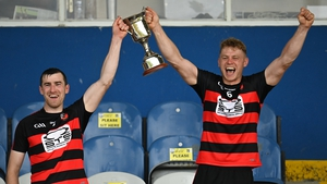 Ballygunner joint captains Barry Coughlan, left, and Philip Mahony lift the trophy