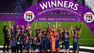 Lyon delight as the trophy is held aloft