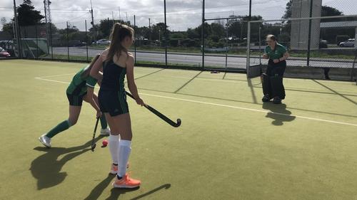 Connacht Hockey members practising in Oranmore, Galway